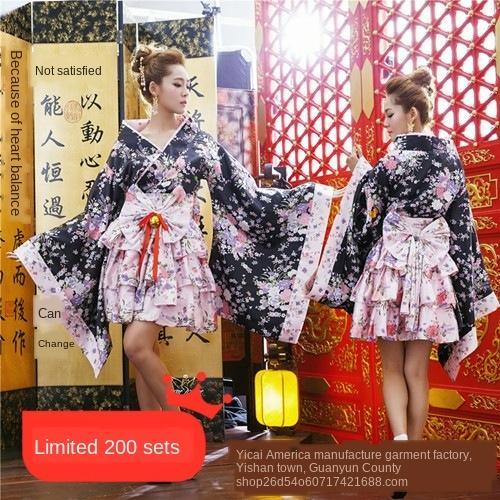 Blissful Terra danza pura costume 6 pezzi set set completo di pesanti fiori di ciliegio di Cosplay del fumetto abbigliamento giapponese Kimono abbigliamento kimono cameriera