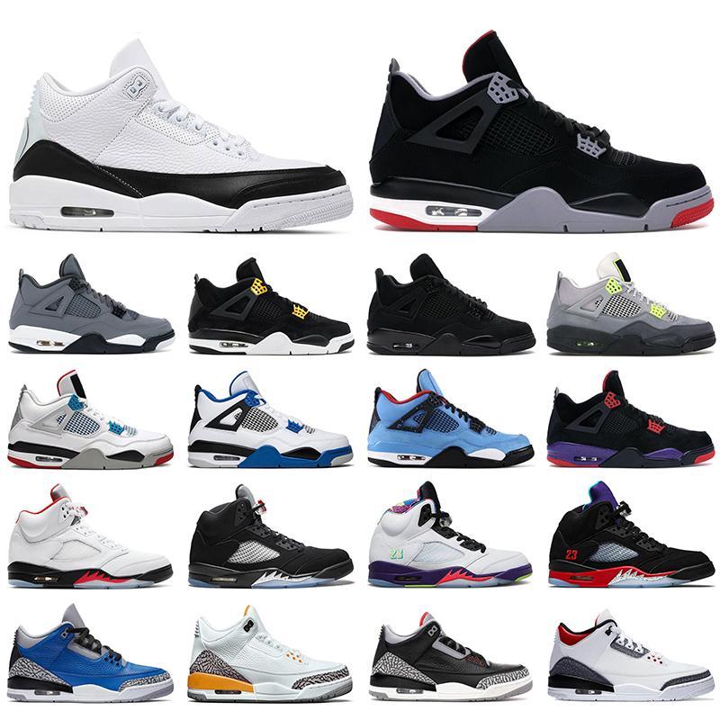 nike air jordan retro أحذية كرة السلة للرجال Jumpman 4s Black Cat Metallic Purple ولدت 4 بديل Bel 5s Fire Red UNC Varsity Royal أحذية رياضية للرجال