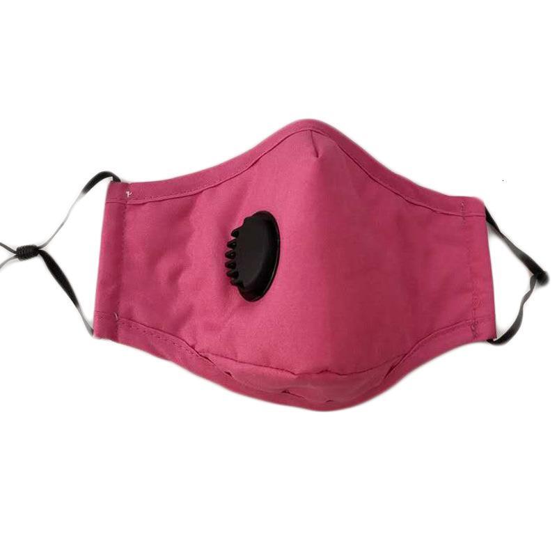 Reutilizável Unisex Rosto Algodão Máscaras respiração máscara Válvula PM2.5 Boca anti-poeira tecido lavável com respirador filtro livre