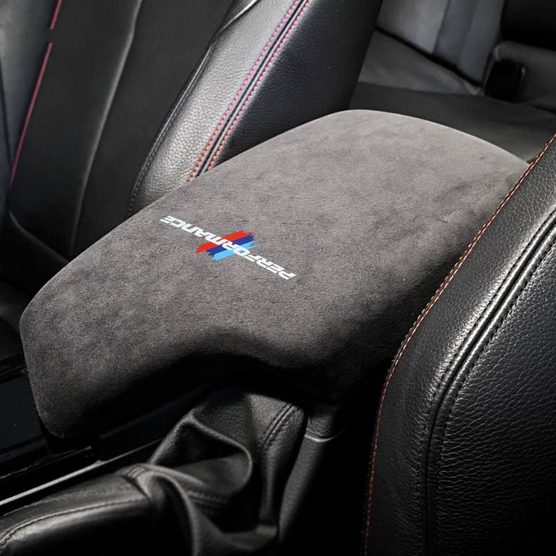 BMW F30 3 Serisi 2013-2019 İç Aksesuar için Alcantara Wrap Araç Kolçak Kutusu Paneli ABS Kapak M Performans Sticker Çıkartmaları