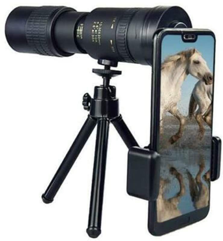 4K 10-300X40mm Супер телеобъектив Монокуляр телескоп с Smartphone Holder Штатив -для Наблюдение за птицами / Охота / Кемпинг / путешествия