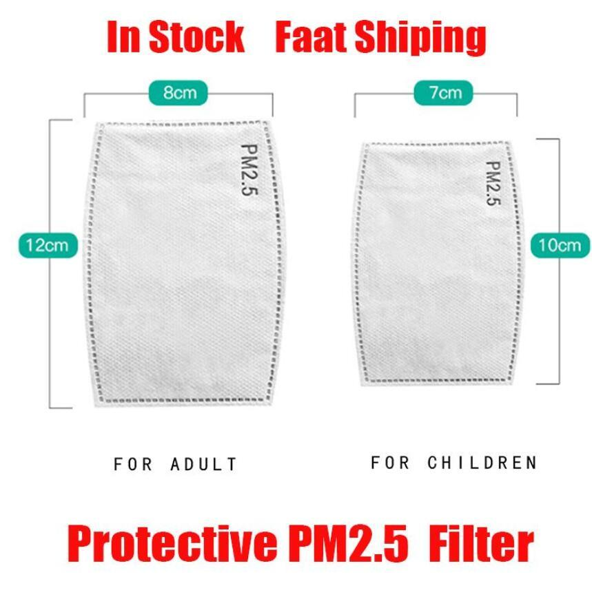 US Stock !! 100Pcs Air Purifying Mask Filter Pad PM2.5 Filtered Activated Carbon Disposable Mask Pad DHL Fast Shipping