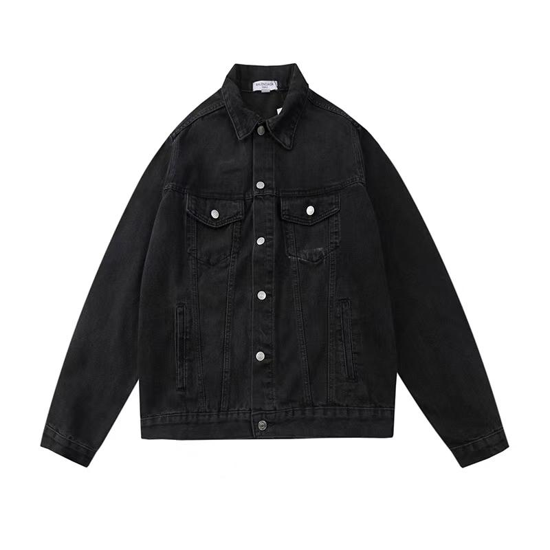 Autumn Winter Mens Hip Hop Demin Jacket Kanye West Male Loose Letter Print Outwear Jacket Coats Destoryed Trend Brand Clothing Tops