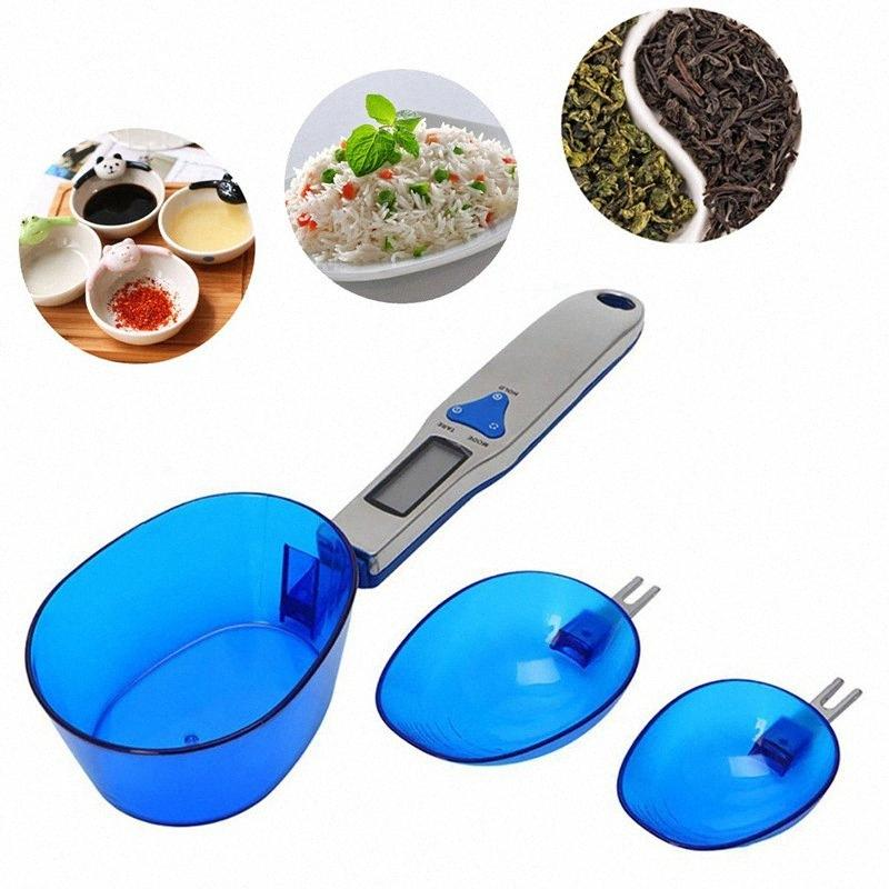 LCD digital portátil balanza de cocina cuchara cuchara dosificadora Gram 300g / 0.1g 500g / 0.1g 3pcs electrónico cuchara Peso Volum escala de alimentos / set pUho #