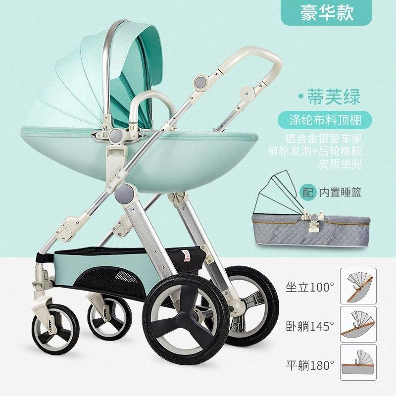 2020 2020 New Arrival Multi Functional Baby Stroller Can Sit Reclining And Light Folding Two Way Implementation Baby Stroller Leather L3L3#