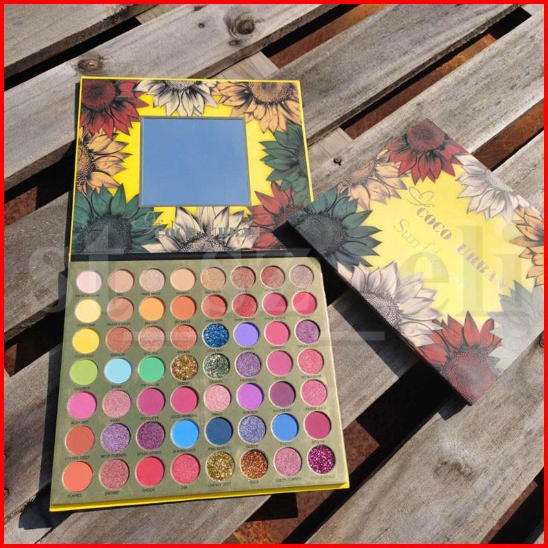 Coco Urban Sunflower 56 Colors Eyeshadow Blush Long-lasting Brighten Skin Color Waterproof Shimmer Matte Eye Shadow Blusher Shadows Palette