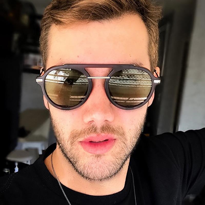 cru gothique steampunk lunettes de soleil femmes hommes autour de lunettes de soleil de cadre de lentille métal gradient lunettes design de luxe UV400