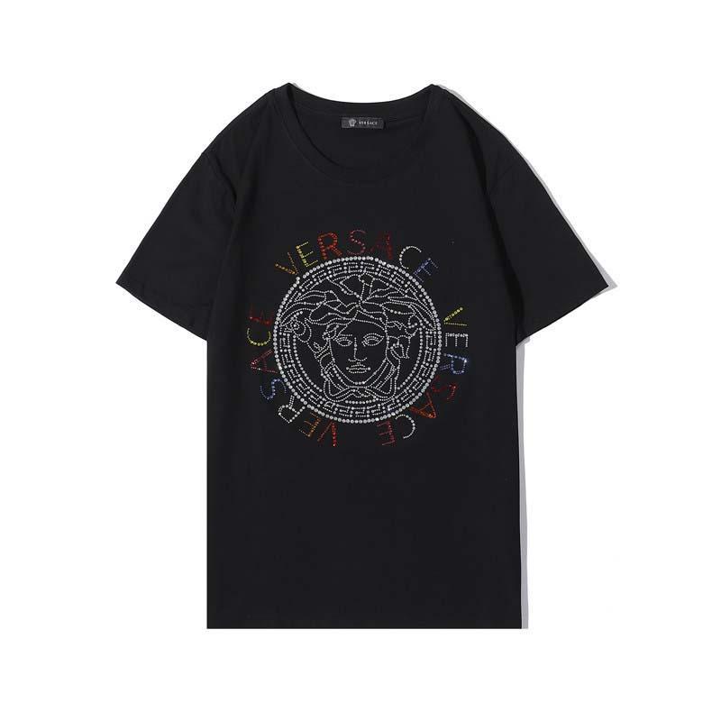 Versace 2020 Summer Designer T-shirts pour hommes Mode Impression T-shirt pour hommes Vêtements de luxe à manches courtes T-shirt Hauts S-XXL # 54566