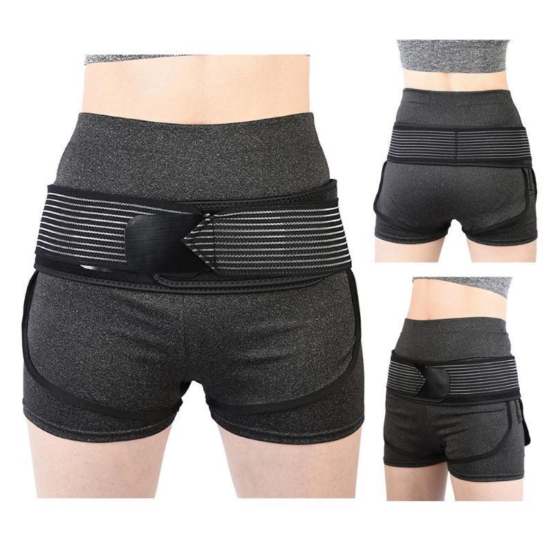 Сопротивление полосы сопротивления дышащей противоскользящей тазовой нижней задней поддержкой скобки для мужчин женщин обезболивающие для боли SCIATICA PELVIS поясничный нерв и нога
