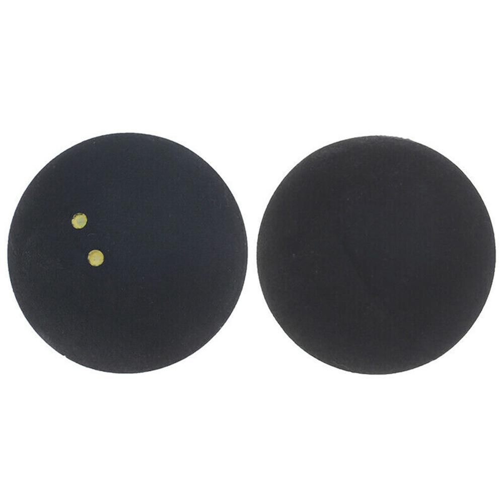 Rodada Squash Bola Baixa Velocidade Borracha Competição pequeno Elasticidade Dois Pontos amarelos