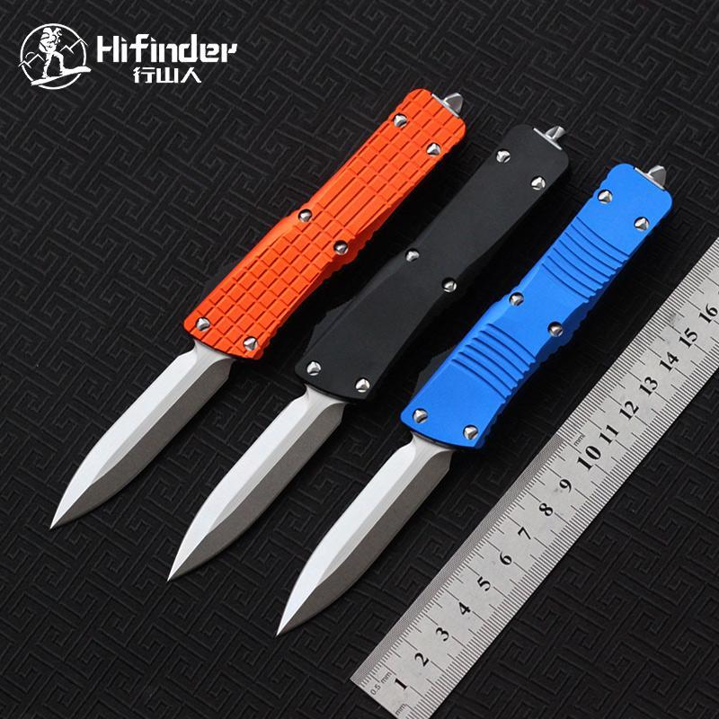 Hifinder Klinge: D2 Griff: Aluminium (CNC 3d) D / E Stonewash Messer Camping Überleben im Freien EDC Jagd taktischen Werkzeug Abendessen Küchenmesser