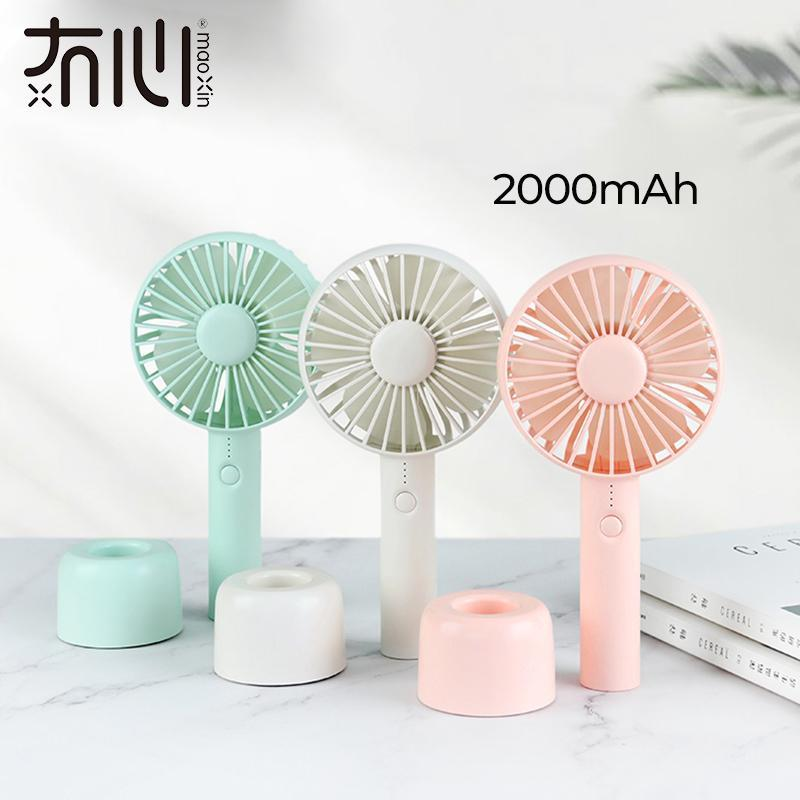 Cgjxs Maoxin Usb Fans Portable Rechargeable Handheld Air Cooler 3 Level Air Cooling Fan Pink Usb Fans With Balm For Camping Desk Quiet T2005