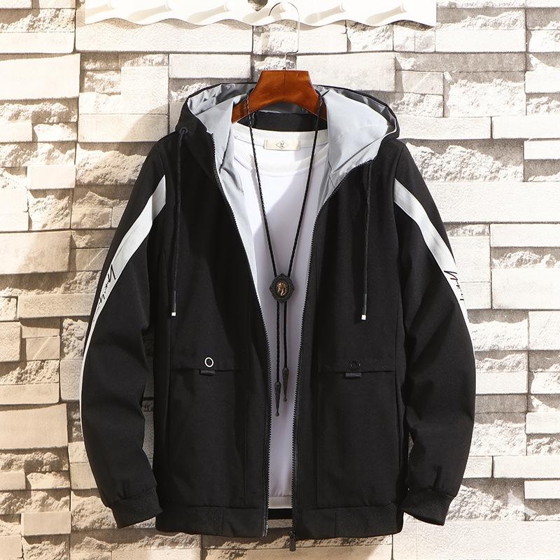 rxHCZ fuerza aérea con capucha de la chaqueta con capucha piloto de la fuerza aérea de la chaqueta rompevientos moda de la moda piloto de caballero