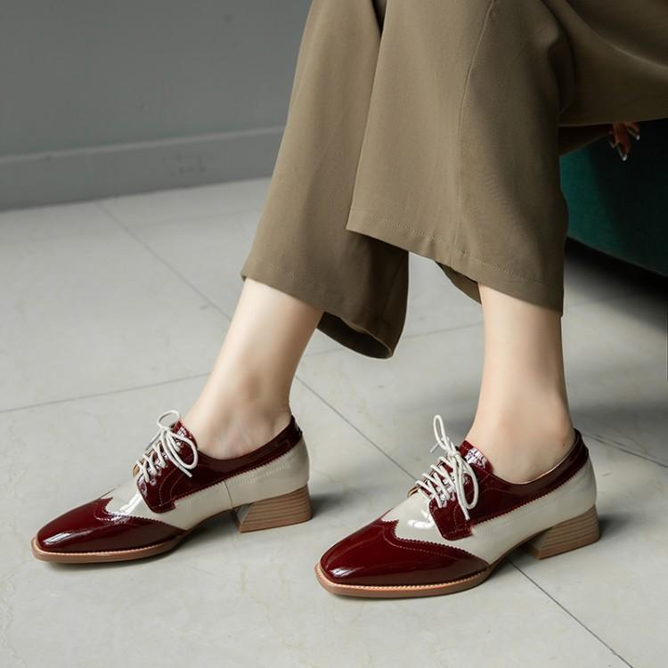 Oxford Chaussures Femmes Classique Talon Chaussures Femmes talon bas Oxford coréenne Femme Zapatos Mujer Chaussure