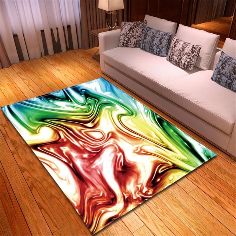 Simple Fashion Decor Floor Mat Hallway Balcony Dining Table Area Rug Soft Non-slip Bedside Rug Large Carpet for Living Room