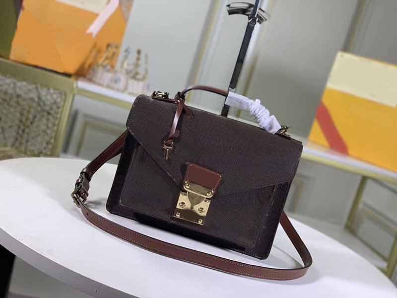 M51187 Kadınlar omuz çantaları L çiçek deseni messenger çanta hakiki deri omuz crossbody çanta moda kılıf bayan çanta çanta
