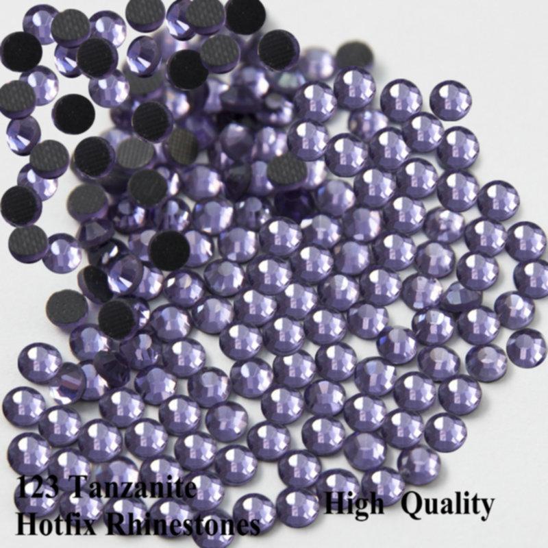 SS6-SS30 DMC HotFix Rhinestone Flatback Glass Iron on Stone Tanzanite Clothing Decoration Top Quality