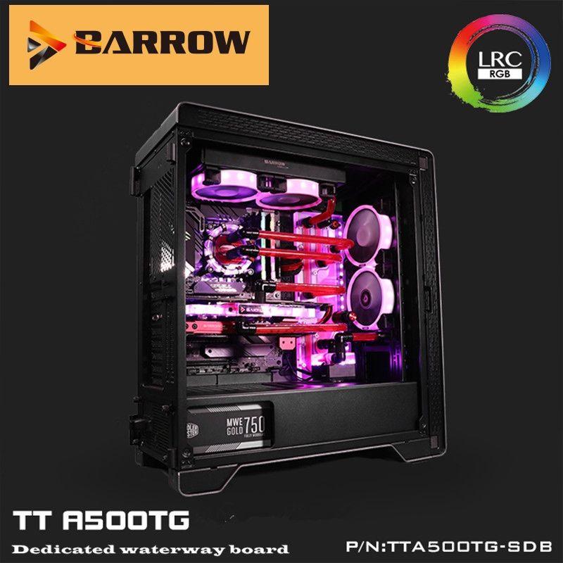 Barrow agua de refrigeración kitsA500TG-SDB, Caso A500TG Por Junta canal, para Intel CPU Agua Bloque individual / doble GPU de construcción