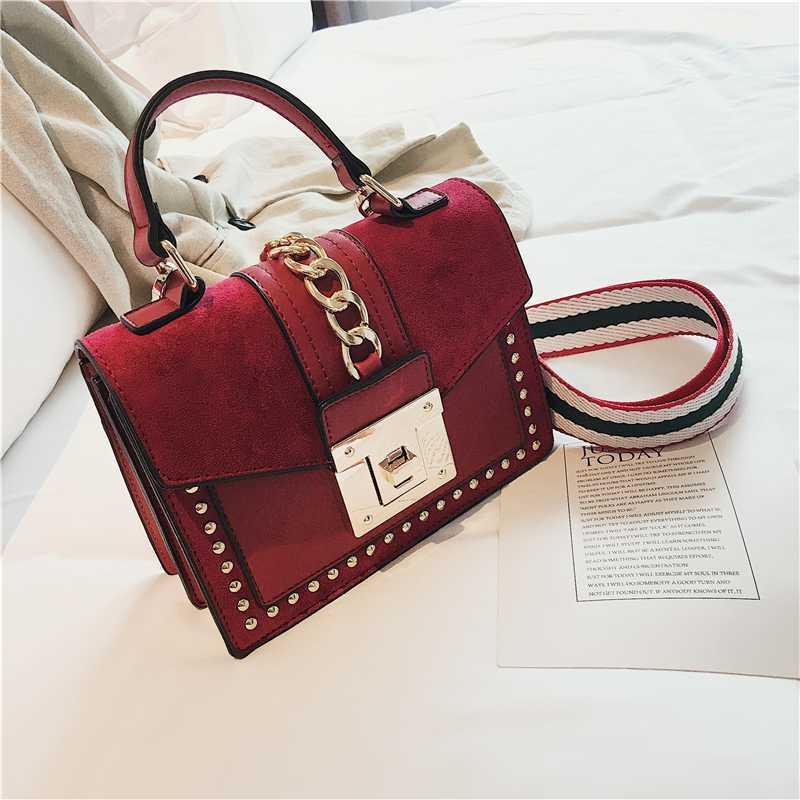 Luxus-Handtaschen-Frauen-Beutel Designer Rivet diagonale Taschen für Frauen 2020 Mode Kleiner Messenger Schultertasche Damen Handtasche