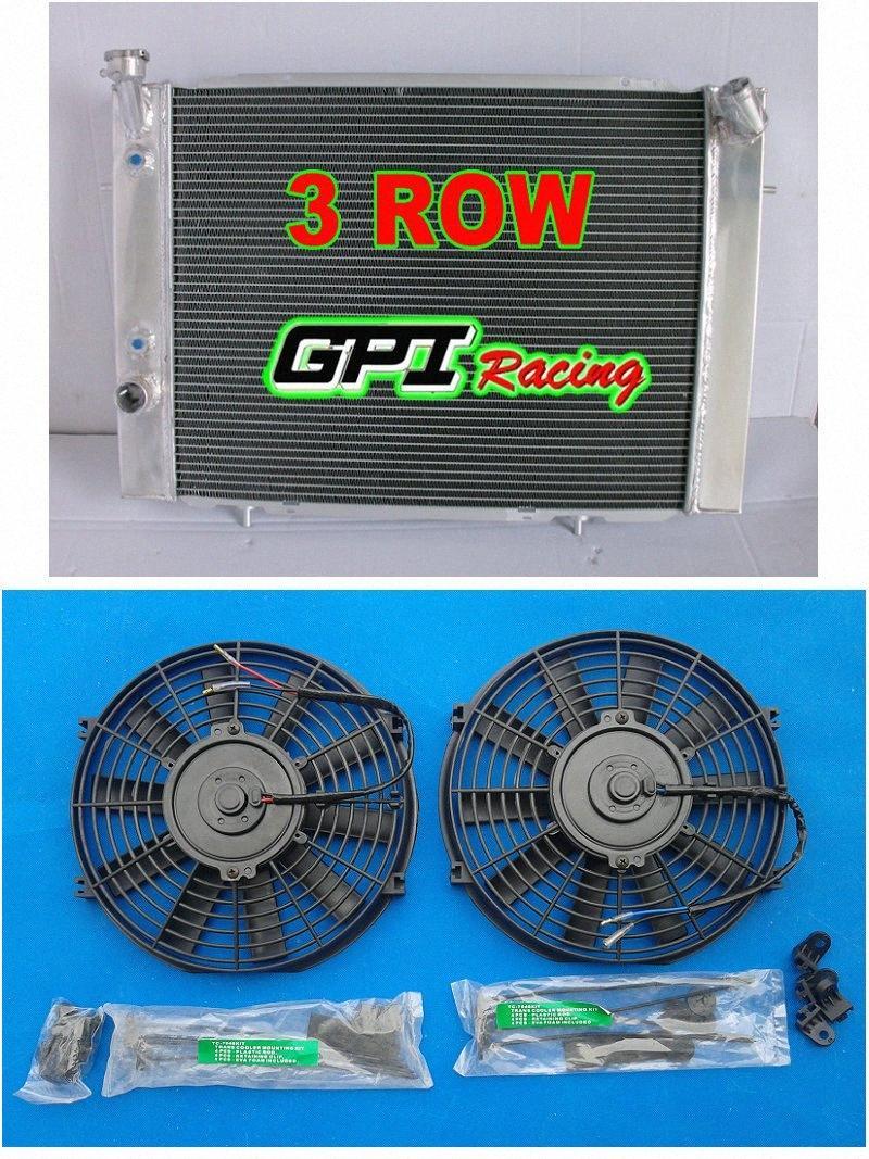 GPI 3 FILA radiador de aluminio + FAN para Holden Commodore VB VC VH VK V8 1979-1986 MT / AT AC05 #