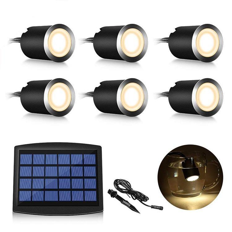 الطابق راحة LED الخفيفة للطاقة الشمسية كيت مع 8 أضواء تحت الأرض الطوب مصباح الطابق الشمسية دفن ضوء بركة سباحة الفولاذ المقاوم للصدأ بقعة إضاءة