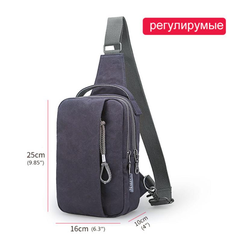 Muzee Versatile Canvas Sling Bags Chest Bag for Men USB Charging Crossbody Mens Bag Casual Travel Shoulder Handbags