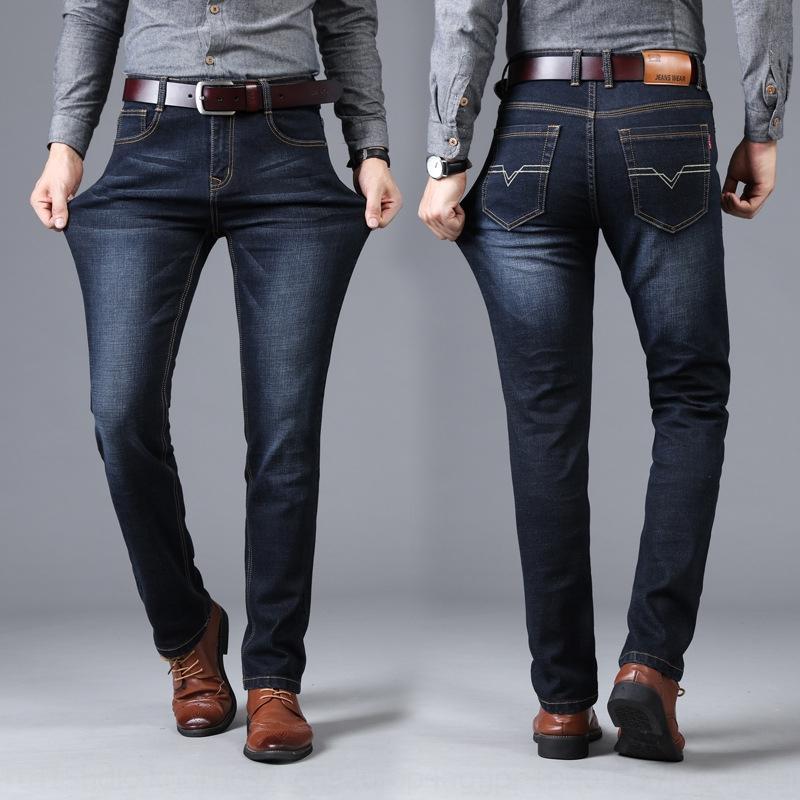 pantalones vaqueros de los InH0J 8sX7X cuatro hombres casuales 2.020 nuevas temporadas coreanos y pantalones de hombre de negocios estiramiento pantalones vaqueros rectos de la moda