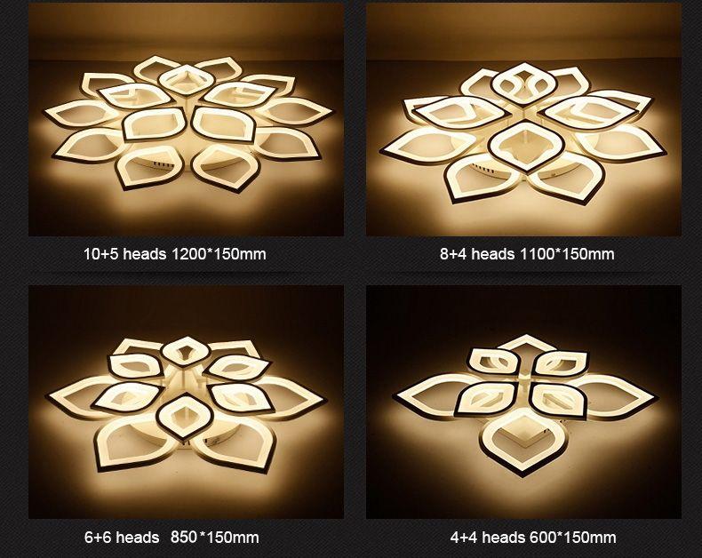 Gleam New Acrylic Modern Led ceiling Chandelier lights For Living Room Bedroom Home Dec lampara de techo led moderna Fixture