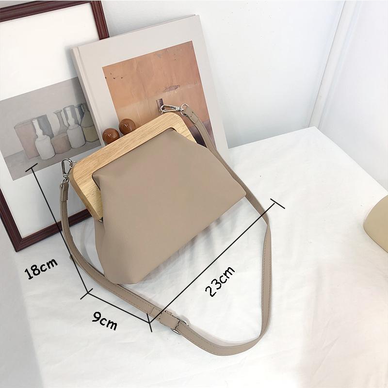 DAUNAVIA Mulheres Bag Messenger Bag Simples Retro PU suave couro clipe Bag Feminino ombro Evening embreagem bolsa bolsas de couro