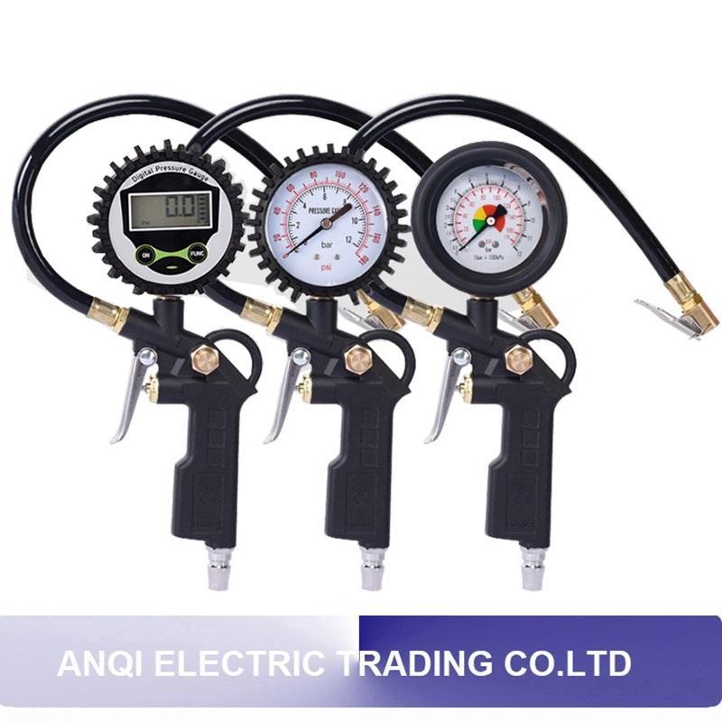 Digital LCD Tyre Tire Pressure Gauge Barometer Car Motorcycle Inflated Pumps Deflated Tire Gauge High Precision Air Manometer