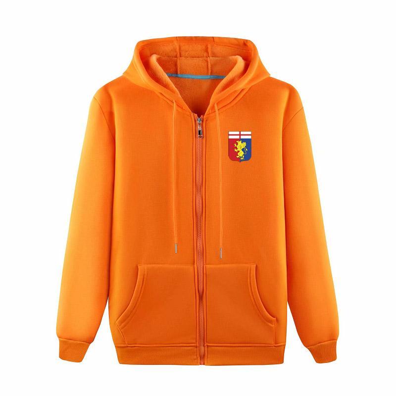 Дженоа 2020 модной мужской моды случайного ворс спорт на открытом воздухе свободного пиджака высокого класс молнии куртка с капюшоном обучения футбола куртки