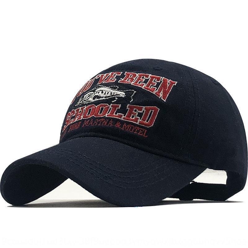 11P85 printemps et l'été nouveau soleil de pêche lettre brodée Schooled chapeau pointu casquette de baseball Pointu casquette de base-ball