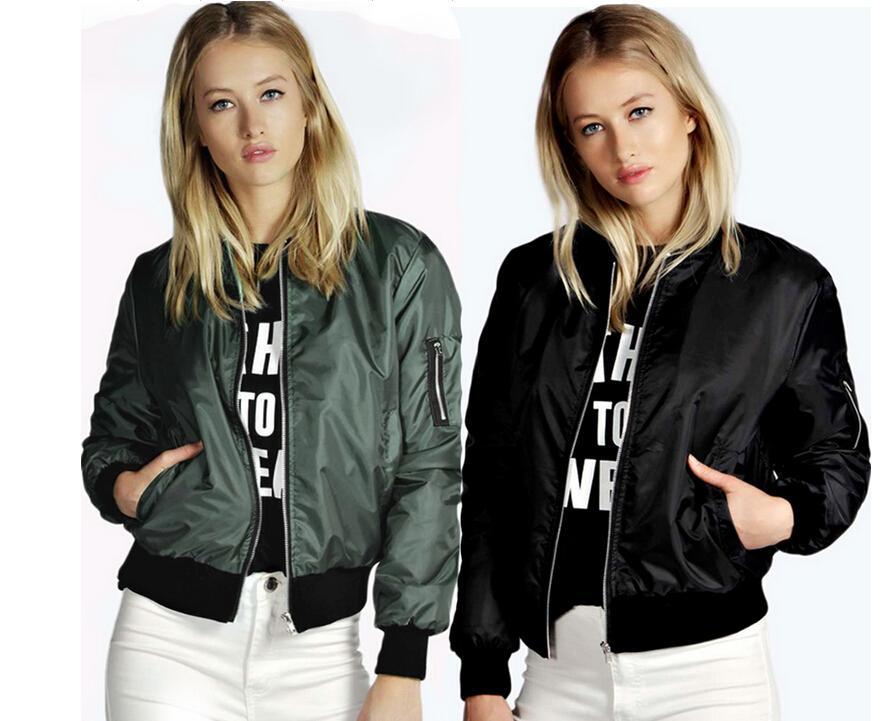 3 색 S-5XL 여성의 지퍼 재킷 비행 폭격기 재킷 캐주얼 야구 코트 착실히 보내다 최고 58236788556535