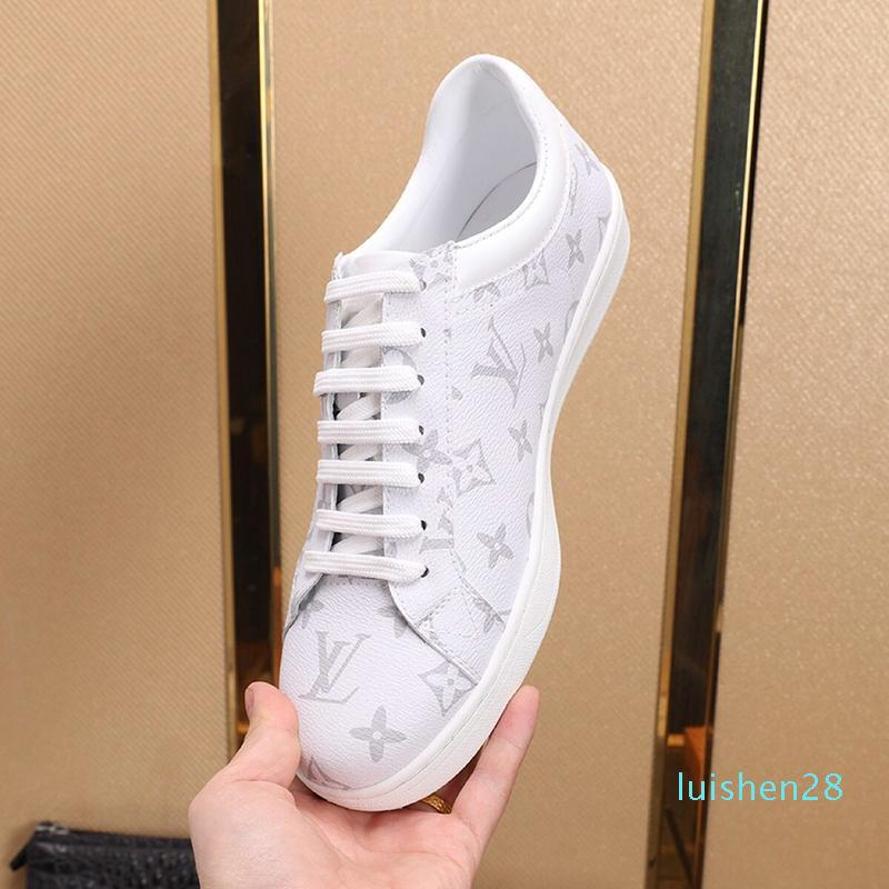 Nova 2020 Mens Shoes Fashion Designer Vintage Footwears Luxemburgo Sneaker Lace -Up Plus Size calçados casuais Homens Scarpe Sportive Da Uomo L28