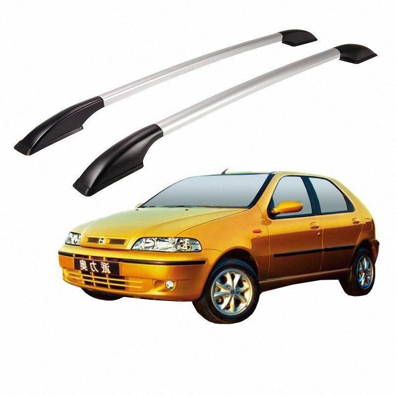 Alluminio libero della lega del foro del tetto dell'automobile della guida Rack Bar Deposito Esterno Accessori Decorazione Per FIAT PALIO 2002 0304 0506 07 DA029 PHRb #