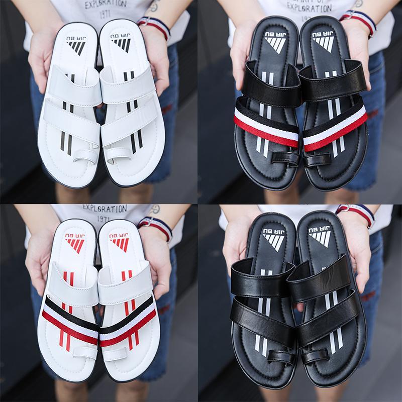sandales concepteur de cuir de Huaraches mocassins de luxe d'intérieur Chaussons d'extérieur homme épais bas antidérapante flip flop diapositives
