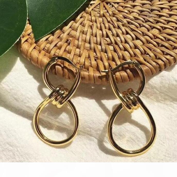 jóias simples Linhas suaves Brincos com tachas atados mulheres banquete jóias presente do Valentim