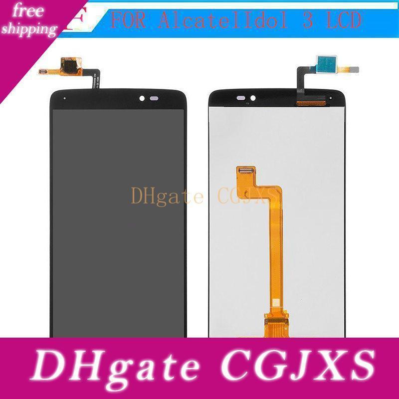 Высокое качество для Alcatel One Touch Idol 3 5 .5inch 6045 Ot6045 ЖК-дисплей с сенсорным экраном Digitizer Сборка оригинальных запчастей Замена
