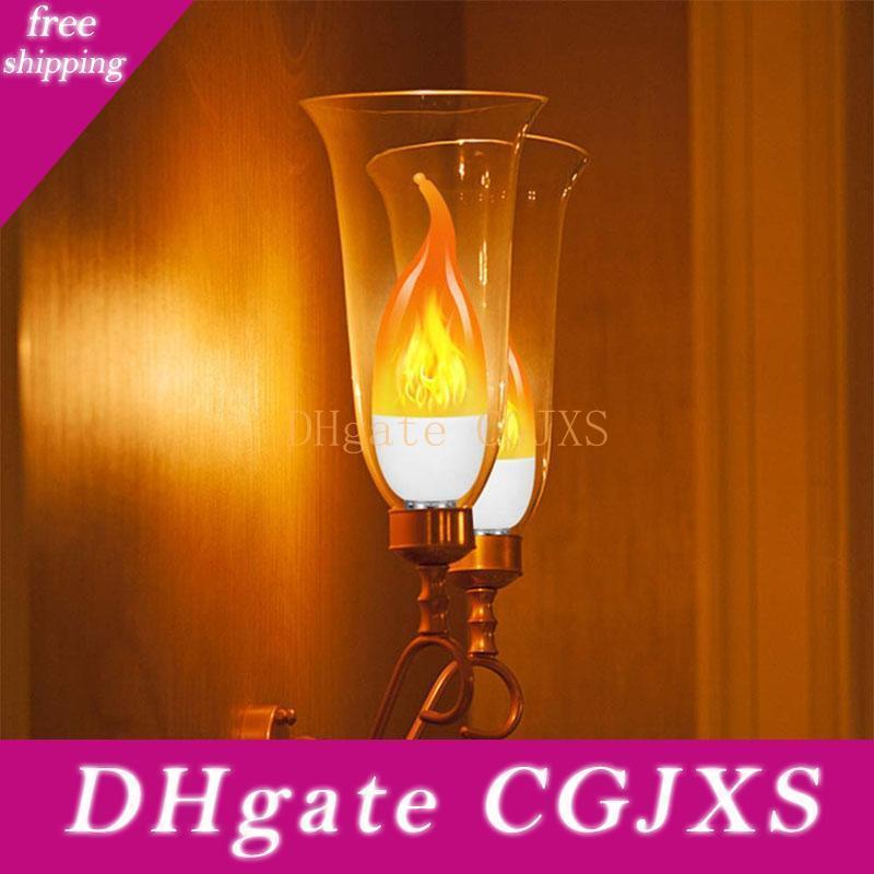 Brelong E12 bombilla LED del bulbo de la palmatoria, blanco caliente LED de la llama de la lámpara de filamento de la lámpara de llama Tirar de la cola de la burbuja 220v