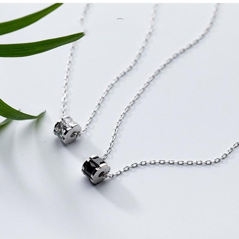 S925 silver necklace female Korean version small round bean chain personality clavicle chain necklaces Fast Dispatch