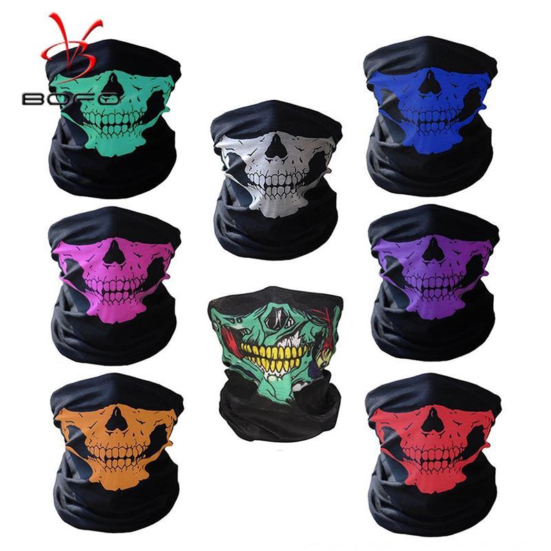 hGzMX Бесшовные многофункциональная магия езда шарфа Магия реквизита маска термического корпус Хэллоуин реквизит изменчивого череп шарф