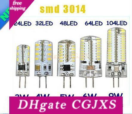 G4 12V 110-220V LED de milho lâmpada 3W 4W 5W 6W 9W LED Light 3014 Corn Bulb Silicone lâmpadas do candelabro de cristal Decoração Luz