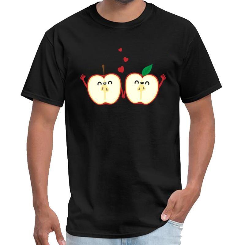 Özel Elmalar Sevgi Çift Gömlek gömlek kadınlar weeknd t shirt artı boyutları s-5XL hiphop