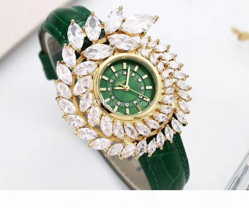 2020 Luxo Qualidade fashion Rhinestone cristal Marca Women Watch flor de quartzo das senhoras do relógio de pulso do vestido de casamento Relógios Girl Veja Relogies