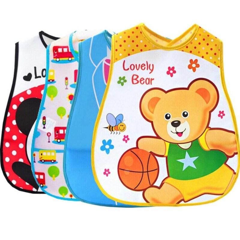 1pc/lot Baby & Kids Cute Cartoon EVA Bibs Waterproof Bandana Silicone Baby Bibs Boys Girls Infants Feeding Care Burp Clothes