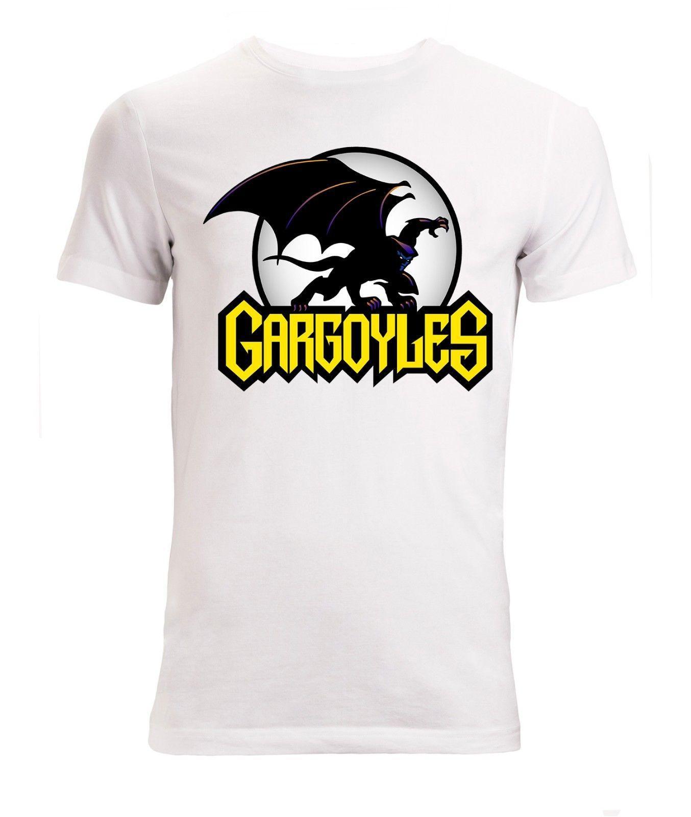 2019 nuevos del verano de los hombres de la venta caliente insignia de la manera Gárgolas dibujos animados clásicos ilustraciones de los hombres (de la mujer Disponible) camiseta camiseta blanca