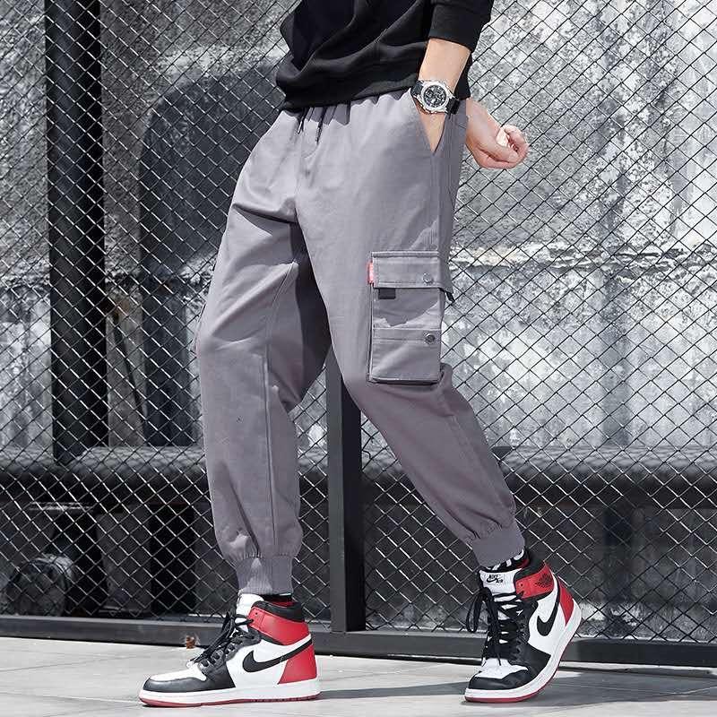 Automne 2020 marque européenne de la mode et nouvelle mode américaine Leggings coton hommes salopette occasionnels lâche grands
