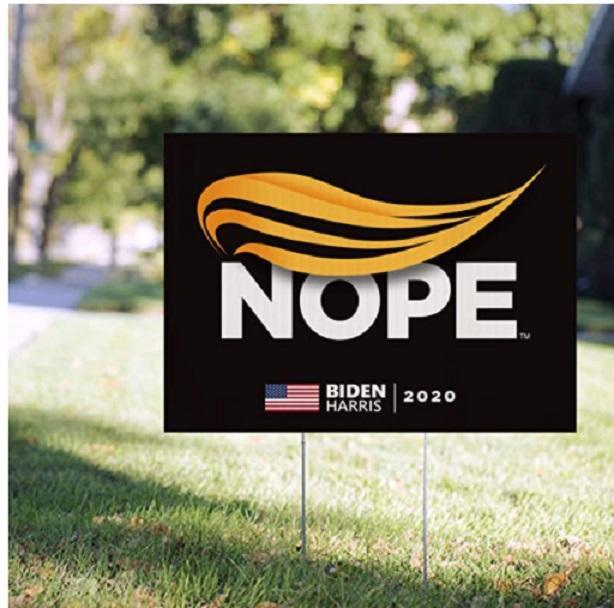 Joe Biden Sinal 2020 Campaign Quintal Trump Nope Sign 2020 Political Entrar amplo inclui Lawn H-Estaca Waterproof Impresso Personalizar HH9-3278