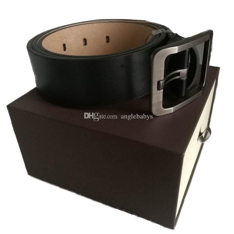 2020 maschile cinture per cinghie Mens cinghie di cuoio casuali del serpente cinghia di modo cinghia di affari Donne Femmina grande fibbia in oro con la scatola