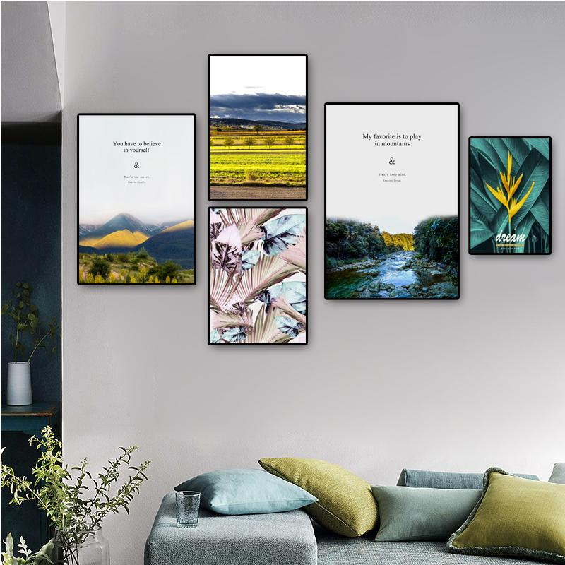 Paisaje posters Campo Río y Pinturas Cuadros del paisaje del arte cuadro de la pared de la lona del cartel decoración del hogar Decoración para habitaciones